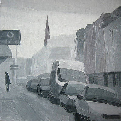 Painting - Street In The Morning Twilight by Lena Krasotina