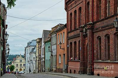Photograph - Street In The Small Medieval Town Gniew Poland by Elzbieta Fazel