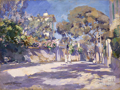 South Of France Painting - Street In The South Of France by Celestial Images