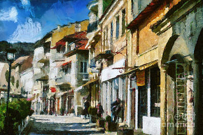 Painting - Street In Veliko Tarnovo by Dimitar Hristov