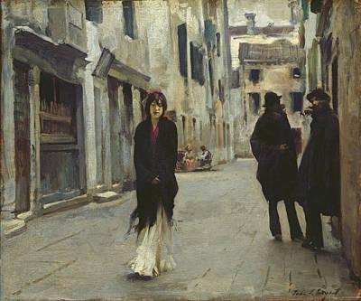 Street In Venice,  Art Print by John Singer Sargent