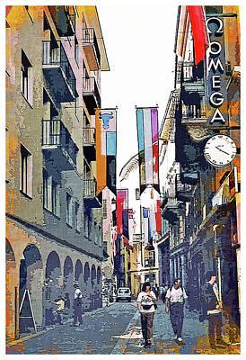 Digital Art - Street In Verona Italy by Mindy Newman