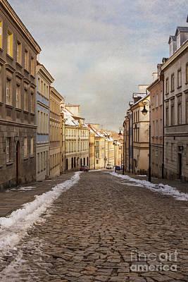 Street In Warsaw, Poland Art Print by Juli Scalzi