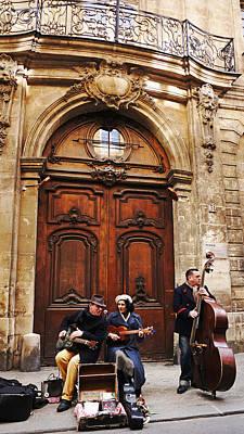 Photograph - Street Jazz Paris France by Lawrence S Richardson Jr