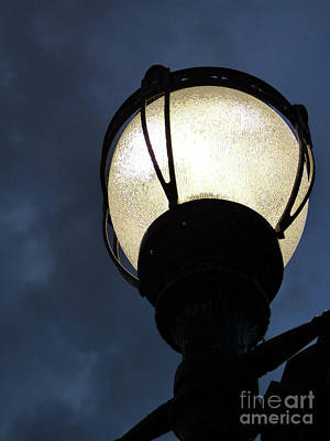 Photograph - Street Lamp At Night by Leara Nicole Morris-Clark