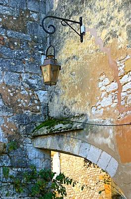 Street Lamp In Sarlat Dordogne Art Print