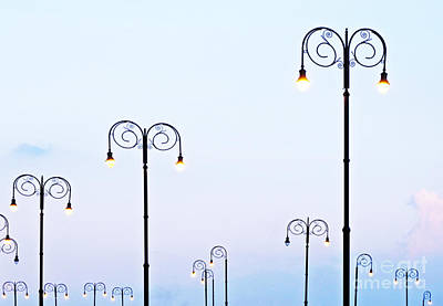 Photograph - Street Lamps Along The Malecon by Ethna Gillespie
