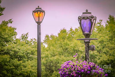 Gas Lamp Photograph - Street Lamps In The Niagara Falls Park by Claudia M Photography