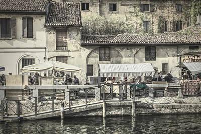 Photograph - Street Life Along  Naviglio Grande by Roberto Pagani