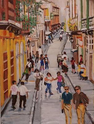 Painting - Street Life by Fran Steinmark