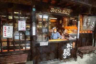 Digital Art - Street Life In Takayama by Eva Lechner