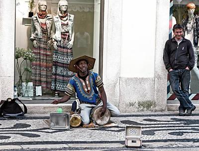 Photograph - Street Music, Lisboa by Lorraine Devon Wilke