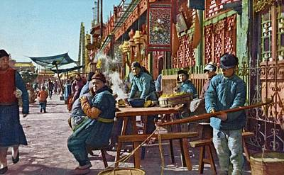 Photograph - Street Life Of Peking, 1921 by Vintage Printery