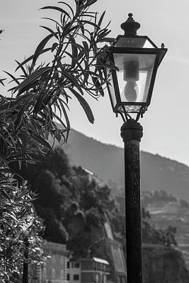 Photograph - Street Light In Cinque Terre  by John McGraw