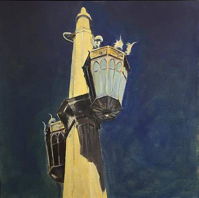 Painting - Street Light Writ Large by Richard Willson