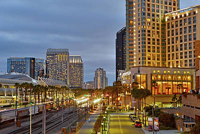 Gas Lamp Photograph - Street Lights- San Diego by See My  Photos