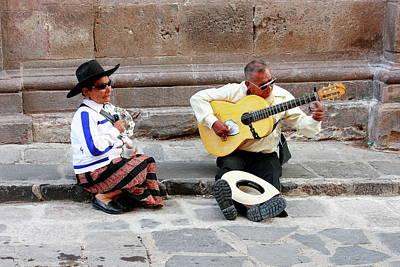 Street Muscians Wall Art - Photograph - Street Music In Mexico by Robert McKinstry
