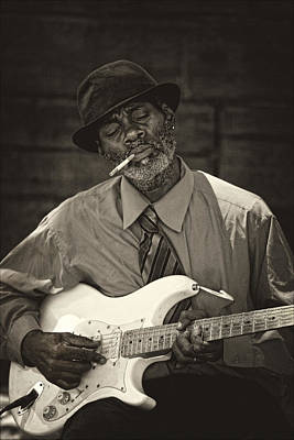 Musicians Royalty Free Images - Street Musician 5th Avenue NYC Royalty-Free Image by Robert Ullmann