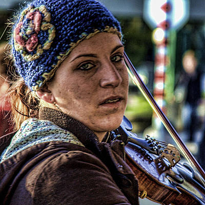 Musicians Royalty Free Images - Street Musician III Royalty-Free Image by David Patterson
