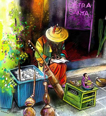 Street Musicians Digital Art - Street Musician In Pietrasanta In Italy by Miki De Goodaboom