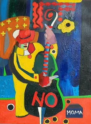 Pop Art Painting - Street Musician by Moma Bjekovic