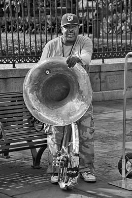Sousaphone Wall Art - Photograph - Street Musician Nola by David Coleman