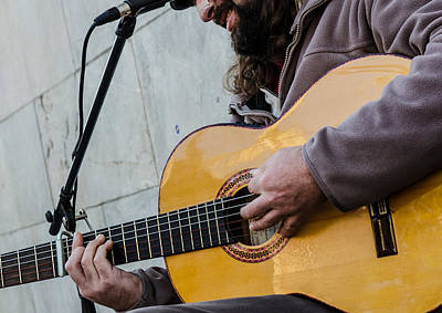 Musicians Royalty Free Images - Street musician - Seville Royalty-Free Image by AM FineArtPrints