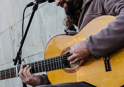 Street Musician - Seville Print by Andrea Mazzocchetti