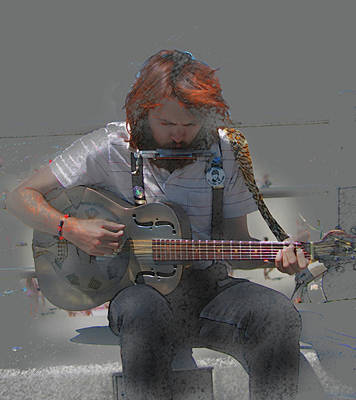 Photograph - Street Musician by Tom Griffithe