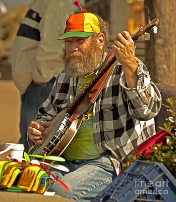 Street Musician With Banjo In San Francisco Original by Mark Hendrickson