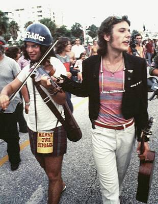 Musicians Royalty Free Images - Street musicians #1 Democratic National Convention Miami Beach Florida 1972 Royalty-Free Image by David Lee Guss