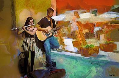 Musicians Royalty Free Images - Street Musicians-2 Royalty-Free Image by Wayne Pascall