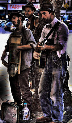 Musicians Royalty Free Images - Street Musicians Royalty-Free Image by David Patterson