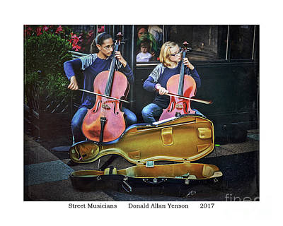 Photograph - Street Musicians by Donald Yenson