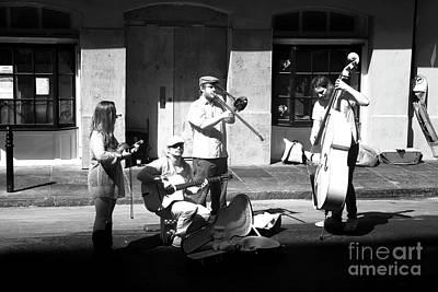Photograph - Street Musicians Infrared by John Rizzuto