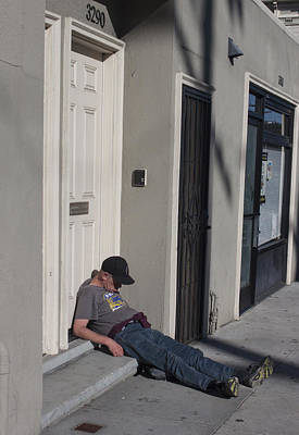 Photograph - Street Nap by Suzanne Gaff