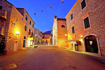 Photograph - Street Of Bol On Brac Island Evening View by Brch Photography