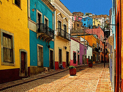Street Of Color Guanajuato 4 Art Print by Mexicolors Art Photography