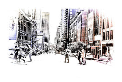 Digital Art - Street Of Seattle  by Susan Stone