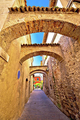 Photograph - Street Of Sirmione Historic Architecture View by Brch Photography