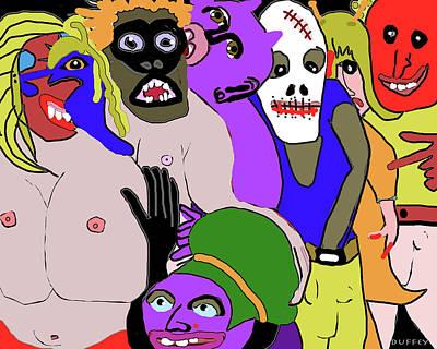 Digital Art - Street Party 1- Nola 1 by Doug Duffey