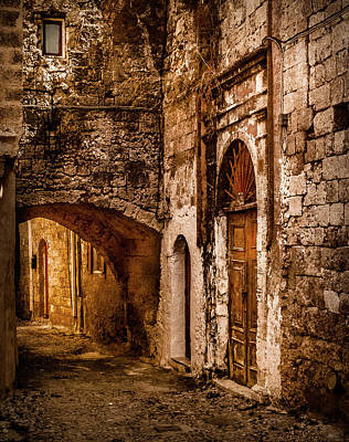 Photograph - Rhodes, Greece - Street Passage by Mark Forte
