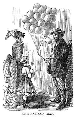 Street Peddler, 1868 Art Print