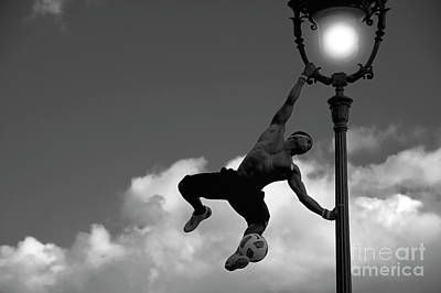 Photograph - Street Performer In Paris by Charuhas Images