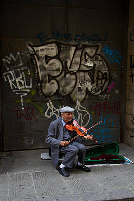 Photograph - Street Performer by Roger Mullenhour