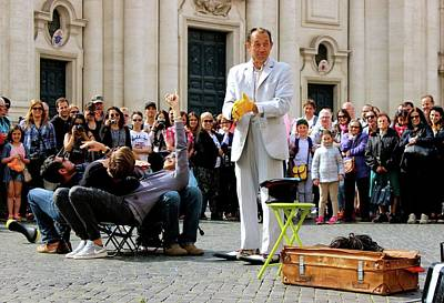 Painting - Street Performer Rome II by Janice Aponte