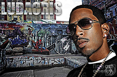 Rapper Digital Art - Street Phenomenon Ludacris by The DigArtisT