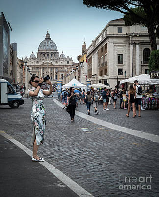 Photograph - Street Photographer In Vatican City, Rome Italy by Perry Rodriguez