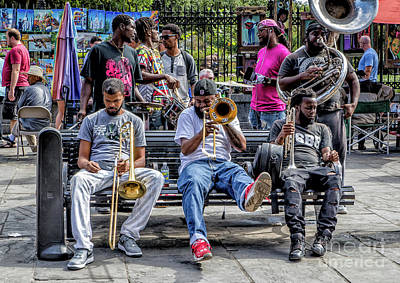 Photograph - Street Photography - Musicians In Jackson Square by Kathleen K Parker