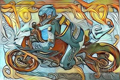 Suzuki Mixed Media - Street Racer by Douglas Sacha